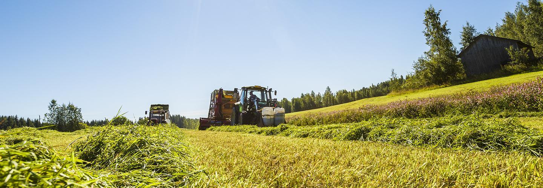 maataloustraktori työssä